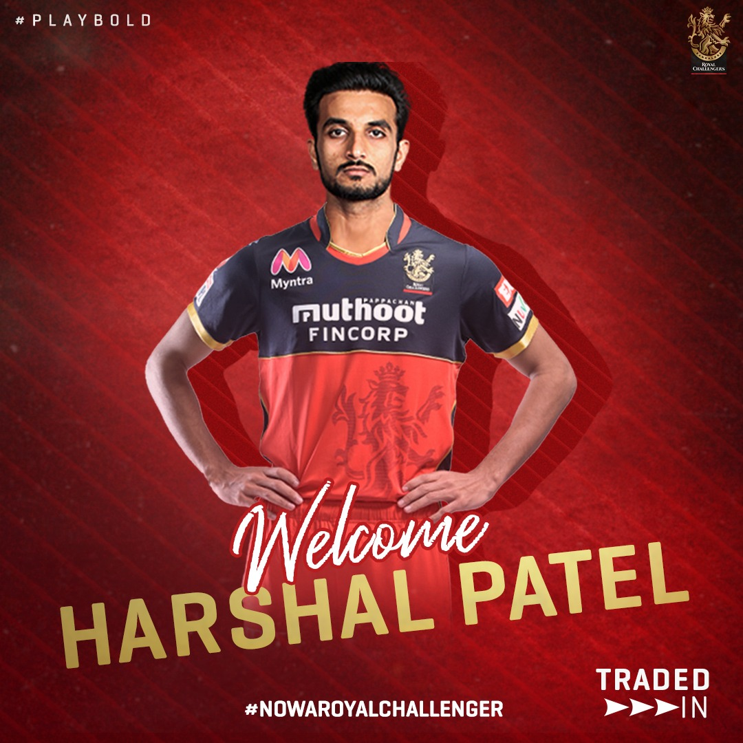 Welcome in @RCBTweets  @HarshalPatel23   #IPL2021Auction #Raina #RCB Shami #INDvsAUSTest Dhoni #SyedMushtaqAliT20 Siraj Bumrah #SyedMushtaqAliTrophy Virat Kohli Virat Kohli #Rahane