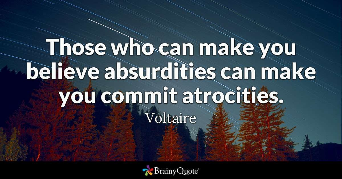 """As we turn the page & welcome a new President, it is important to reflect on this Voltaire quote that embodies where we have been, """"those who can make you believe absurdities can make you commit atrocities."""" #wednesdaywisdom #inauguration2021 #wednesdaythought"""
