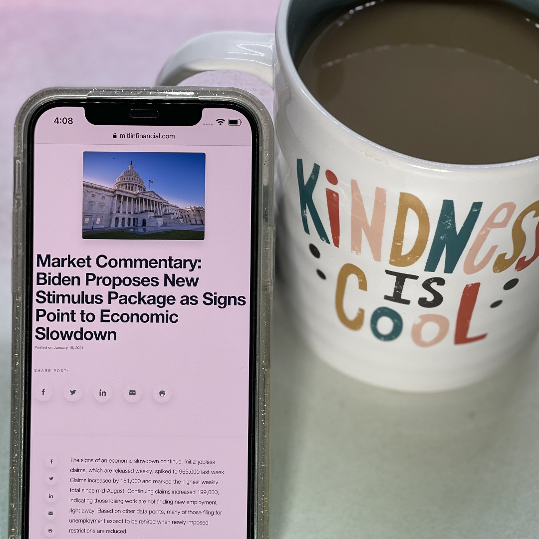Coffee ☕ and Market Commentary 📈 Biden Proposes New Stimulus Package as Signs Point to Economic Slowdown 📝 Read the rest of this week's commentary    #stockmarket #BidenAdministration  #financialeducation #financialadvisor #WednesdayWisdom