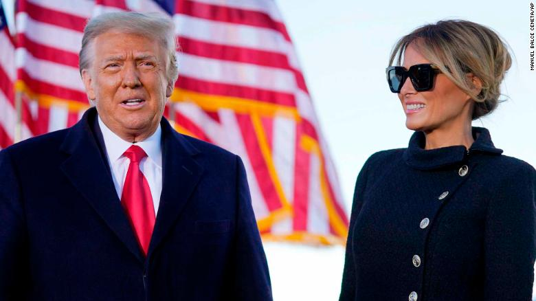 First lady Melania Trump spoke at President Trump's final farewell ceremony at Joint Base Andrews