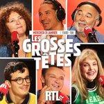 Image for the Tweet beginning: Aujourd'hui dans les Grosses Têtes