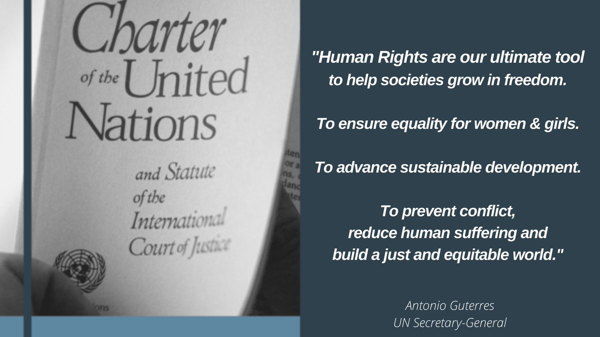 🔹 Equal rights 🔹 Non-discrimination 🔹 Tolerance  75 years on, the values of the @UN Charter are values for us all to live by.   #UN75