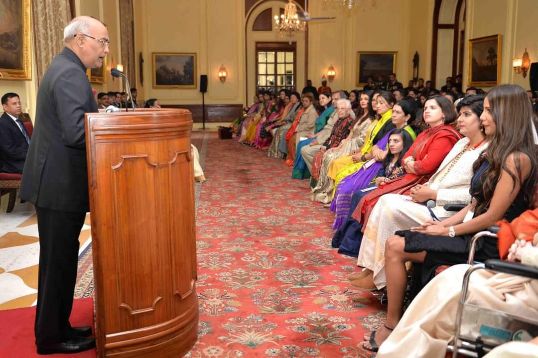 #OnThisDay in 2018. A very memorable day when I received the #FirstLadies #PresidentAward from the @MinistryWCD. A big thank you to my country for giving me the opportunity to create history of being first. Special memories!