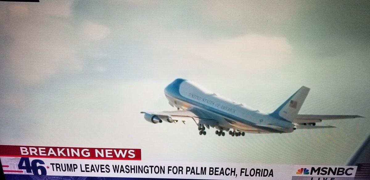 You LOVE to see it. #InaugurationDay  #ByeByeTrump #ByeDon #LeavingOnAJetPlane #FumigateAirForceOne