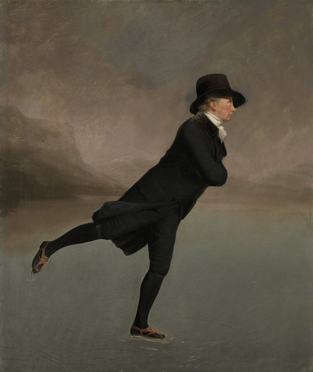 ❄️Winter Fun Week would be incomplete without Sir Henry Raeburn's iconic portrait of the Reverend Robert Walker. Oil on canvas, ca 1795, @NatGalleriesSco  Learn more here  #skating #menswear #winter #Scotland #fashion