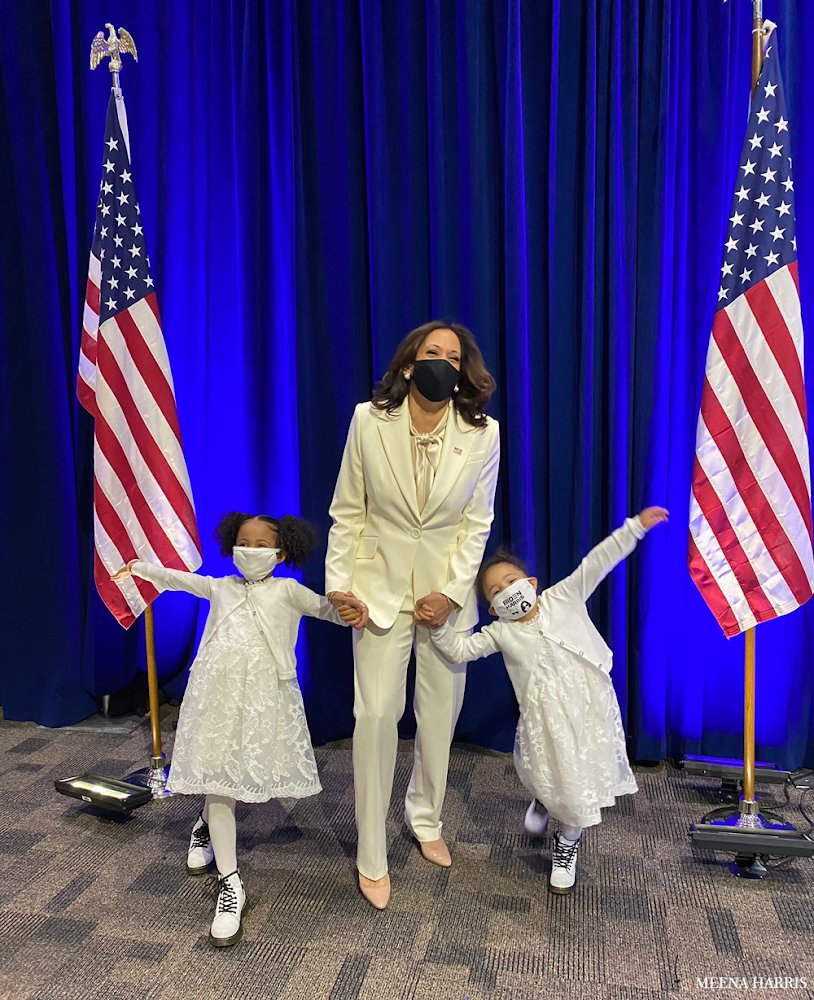 """It delights me to think that what feels historical and amazing to us today—a woman sworn in to the vice presidency—will seem normal, obvious, """"of course"""" to Kamala's grand-nieces as they grow up. And they will be right."""