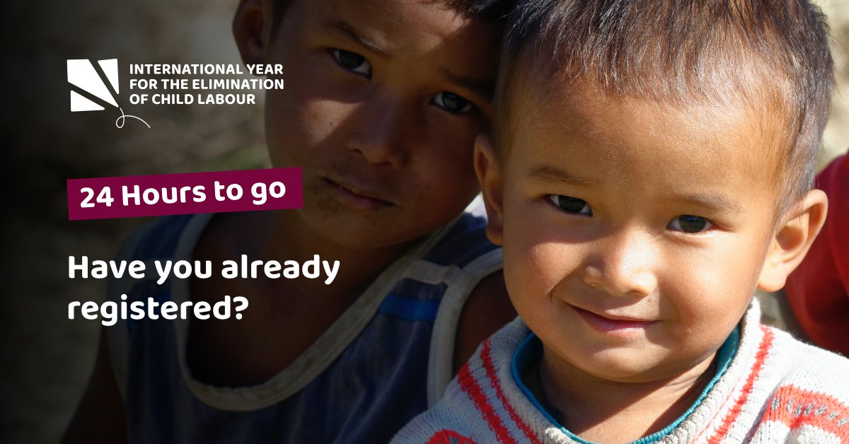 Join the launch event of the 1st UN International Year for the Elimination of Child Labour. Attend online on 21 January from 14:00-15:15 GMT.   Register here:    #EndChildLabour2021
