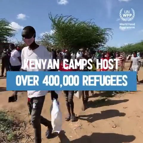 🔵There are more than 400k people living in Kenya's refugee camps,  most depend solely on @WFP_Kenya for food.  🔵But funding gaps have led to ration cuts, affecting health & nutrition of the population. We need 12 mil USD per month to provide food & cash to refugees in #Kenya.