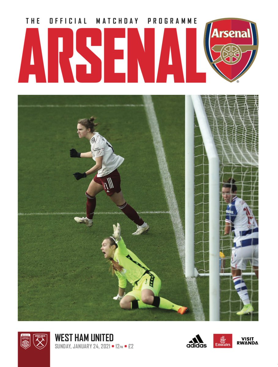 🚨 THIS WEEKEND'S PROGRAMME NOW AVAILABLE 🚨  ⌛️Order by 10am on Friday (UK) to get your @ArsenalWFC v @westhamwomen issue posted before matchday  🔴⚪️ Featuring @MontemurroJoe Anna Patten @DanielleDonk & Lotte Wubben-Moy
