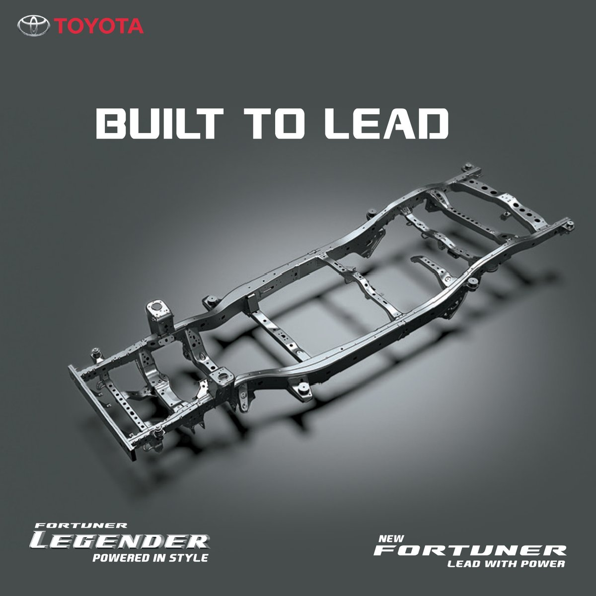 The frame based platform of the new Legender and Fortuner provides extraordinary toughness and higher stability in the harshest of environments.  E-book now! Visit: https://t.co/0BFxesvXwo  #PoweredInStyle #LeadWithPower #NewFortuner #Legender #Toyota #ToyotaIndia https://t.co/yBqxiv164F