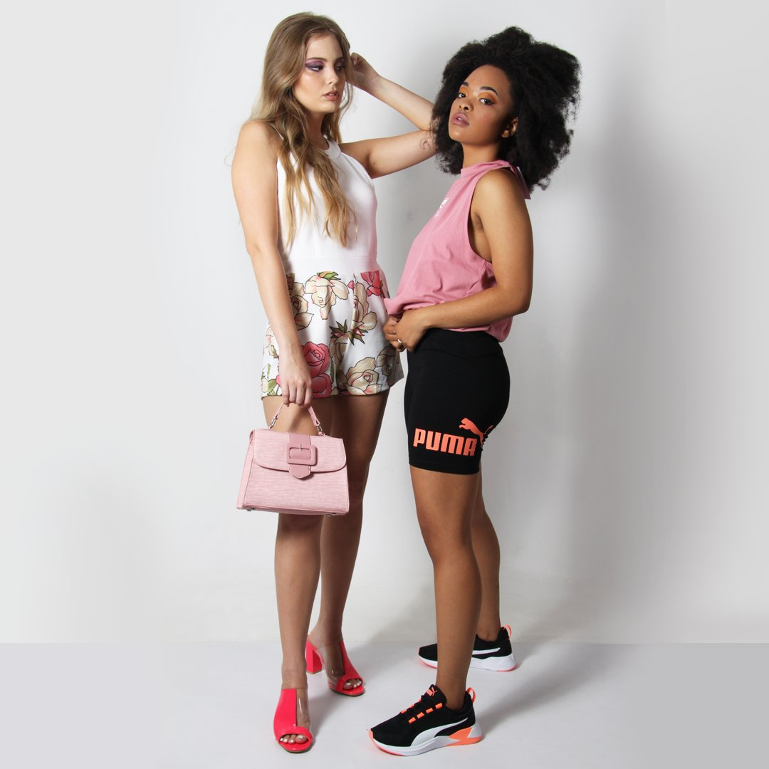 What's your go-to look when you can't choose an outfit?  SPORTY or CHIC?   #ootd #outfit #look #chic #puma #choose #Wednesday #clothing #mink #pink #heels #sneakers #wardrobe #challenge #poll #whenyouwantmore #planet54 #shopnow #onlineshopping #bosslady