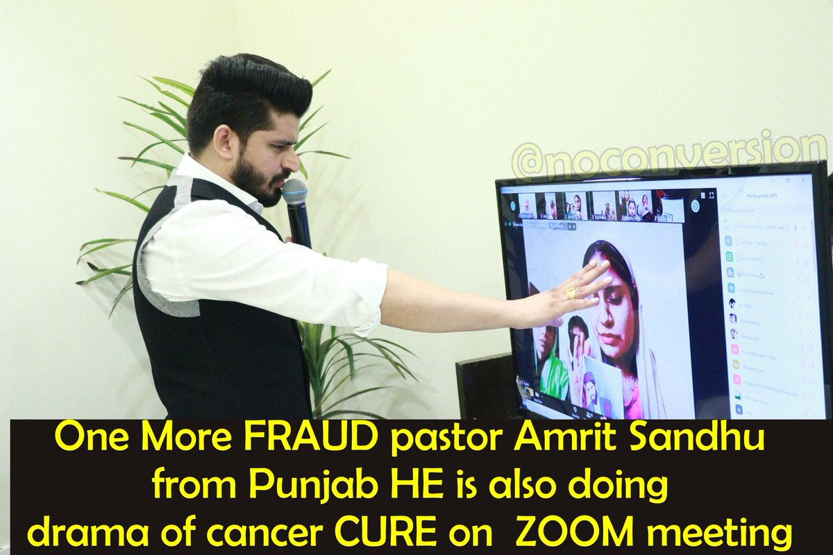 Another Converted Christian FRAUD pastor ... he is curing cancer using ZOOM meeting, because he is afraid of Corona Virus !!!!!