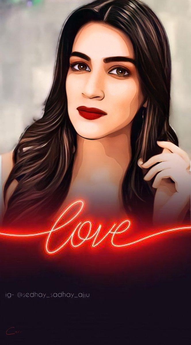 What is love ?? 🤔 Here's the answer 🥰👇🏼 @kritisanon 🥰🥰 #KritiSanon #love #BachchanPandey #artistsontwitter