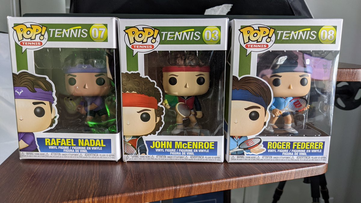 They arrived! #funkopops!  @RogerFederer365 - @RafaelNadal -  #johnMcenroe -   #RogerFederer #rafaelnadal #johnmcenroe #rafanadal #tennis