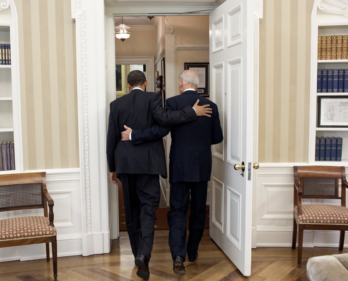 Replying to @BarackObama: Congratulations to my friend, President @JoeBiden! This is your time.
