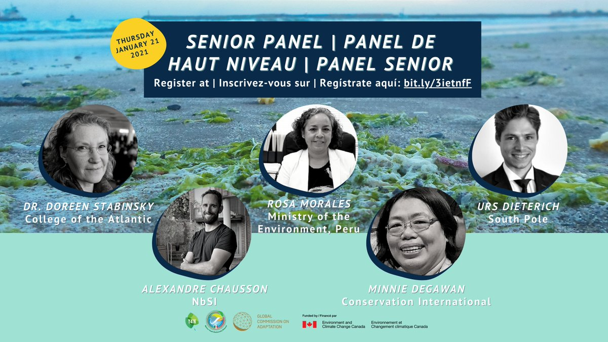 We are thrilled to welcome Dr. Doreen Stabinsky, Alexandre Chausson, Rosa Morales, Minnie Degawan and Urs Dieterich to our Senior Panel!  Register at  or join us on Facebook live at 👉  🌿🌊