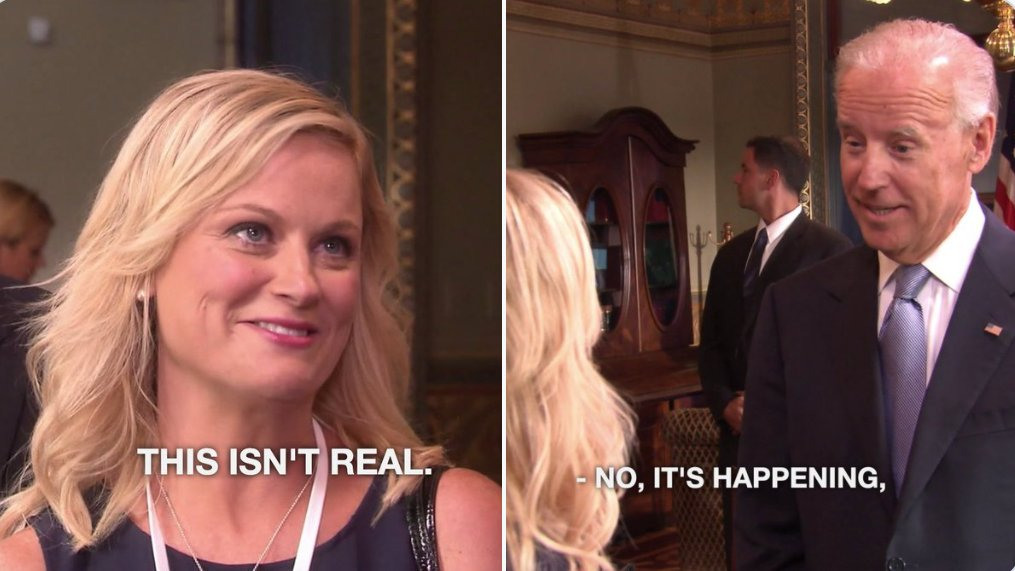 Replying to @Geeky_Waffle: Today we are all Leslie Knope.