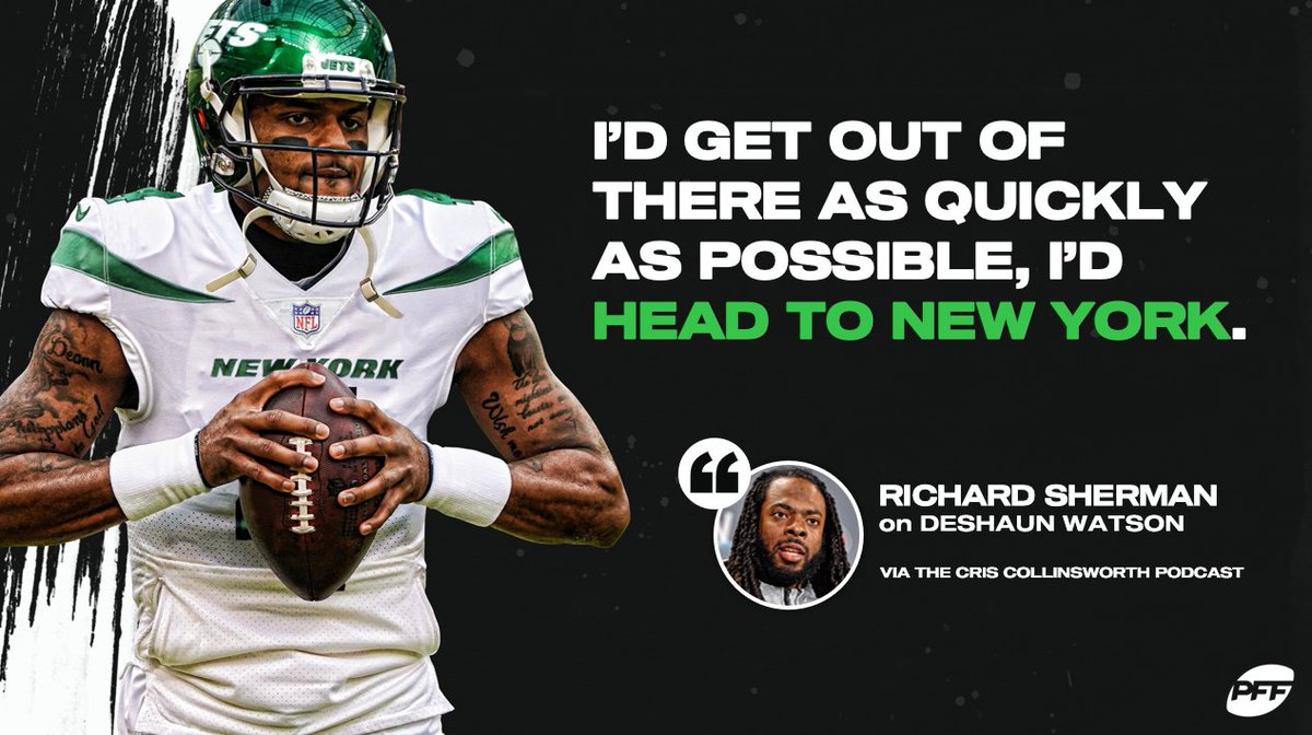 🗣️ @RSherman_25 has some advice for Deshaun Watson 👀✈️ https://t.co/eoDJ8PMoaO