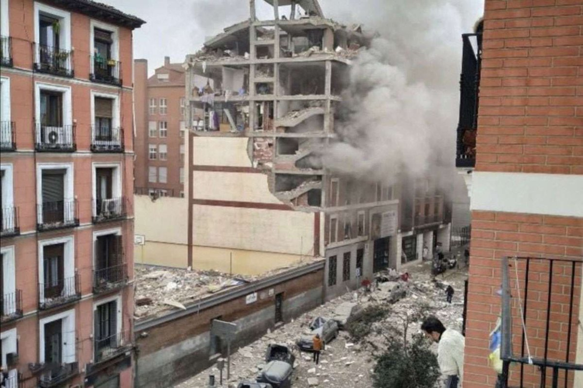 İspanya'da şiddetli patlama    #MadridNevado #MadridVuelve #MadridVuelve #madridpatlama #patlama #ispanya