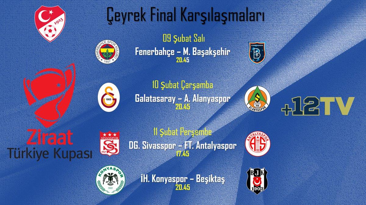 Ziraat Türkiye Kupası Çeyrek Final Karşılaşmalarının maç takvimi açıklandı. https://t.co/3UvuMTTkUR