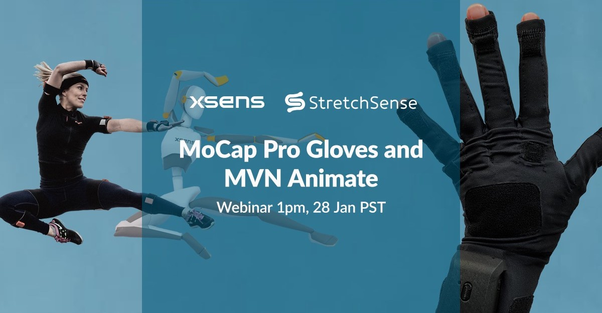 StretchSense MoCap Pro gloves are now natively integrate with Xsens #MVN software! It's an affordable solution to premium hand and body #MotionCapture. Want to know more?   📅 January 28th ⏰ 1 PM PST  Register for webinar here: https://t.co/dDOEgKX6pn https://t.co/HDXSyHefF2