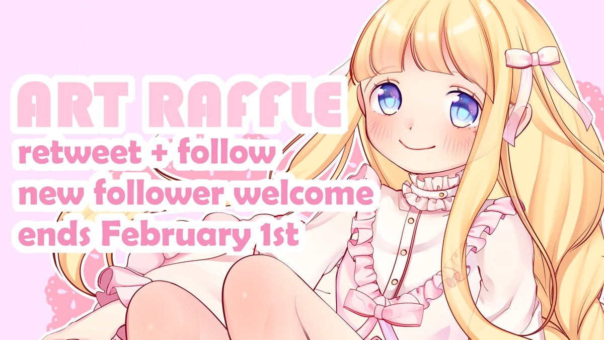 ♥ ART RAFFLE ♥  [ Retweets are appreciated! ] This is my first Art Raffle on Twitter. Thank you very much for supporting me 🌸🌸I love y'all =^∇^*= The winner gets:  Half body drawing in my style To join :   RT this tweet & Follow me!  Ends February 1st Good luck! =^∇^*=