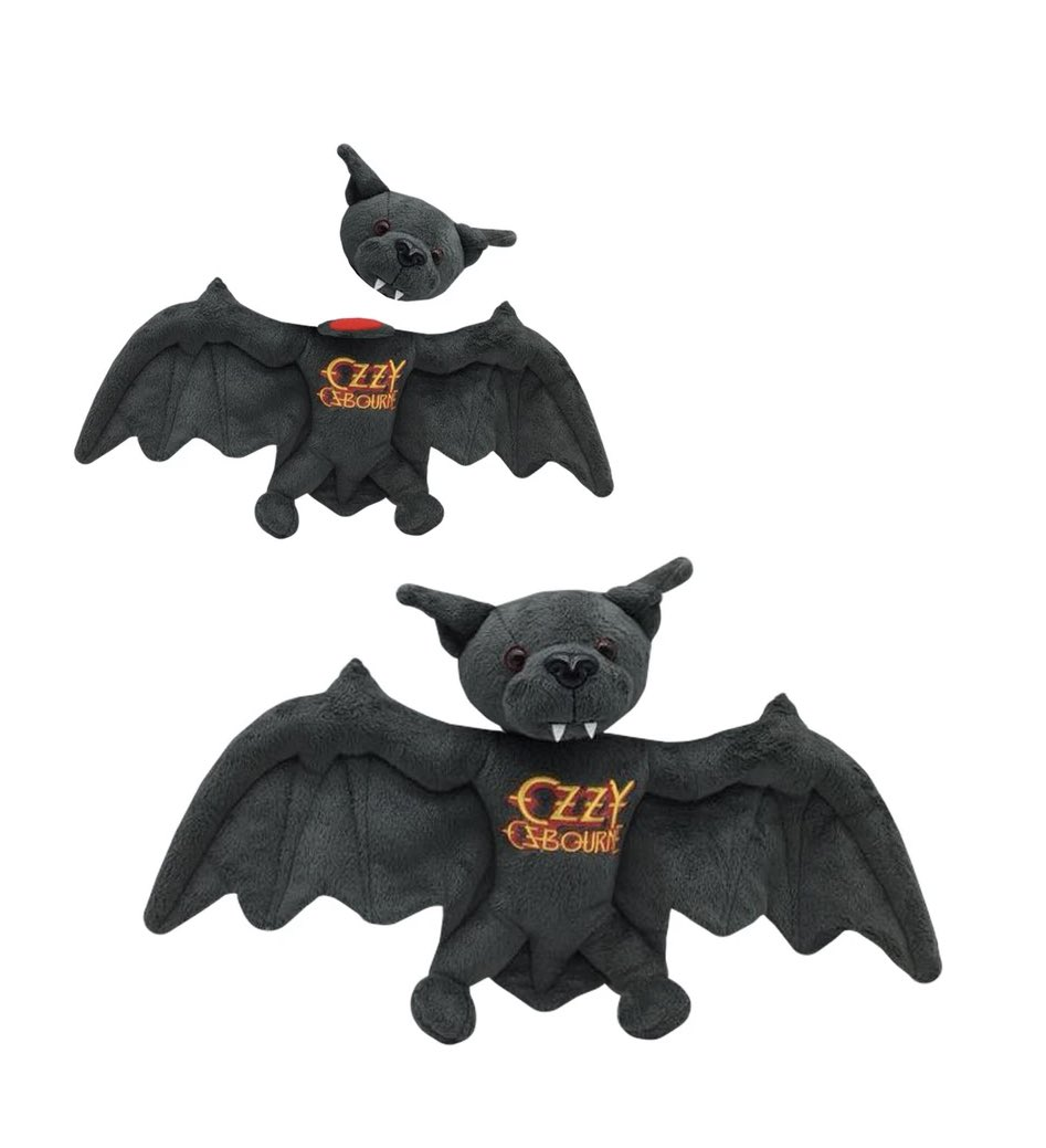 Today marks the 39th anniversary since I bit a head off a fucking bat! Celebrate with this commemorative plush with detachable head