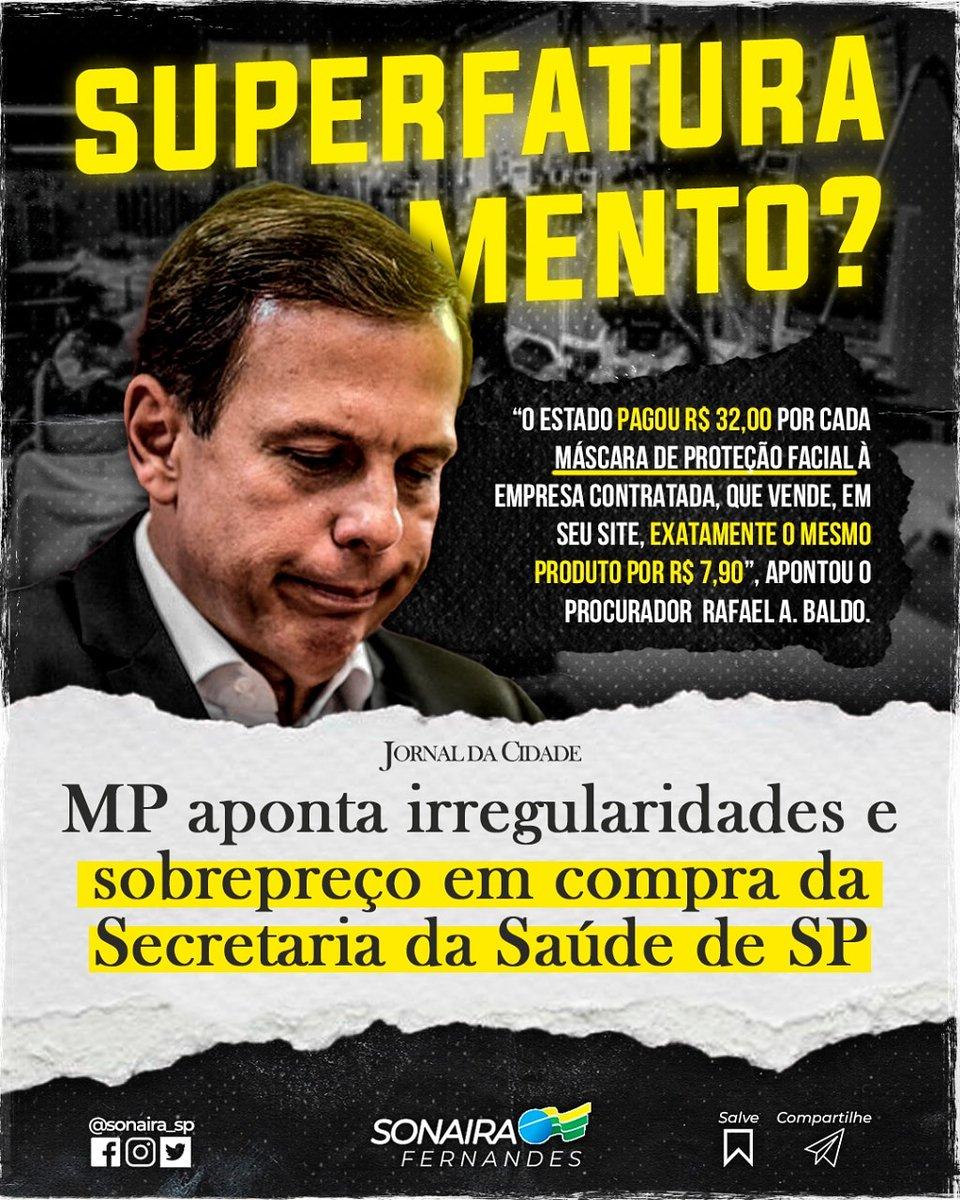 O Ministério Público de Contas de SP exige esclarecimentos da secretaria da saúde de SP a compra de 'faceshield'.   (Segue)