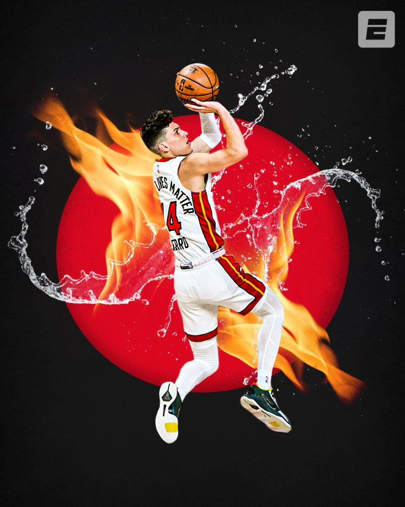 Tyler Herro celebrates his 21st birthday today 🔥  🔴 First NBA player born in the 2000s to play in the conf finals 🔴 Dropped 37 Pts in an ECF game 🔴 Youngest player to ever start in the Finals https://t.co/0XmZxlfQMO