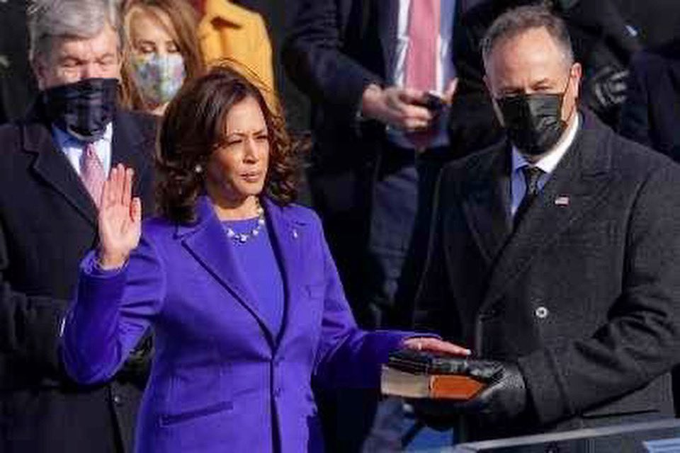 Madam Vice President. 💙 #KamalaHarrisVP #InaugurationDay #LetsGetToWork