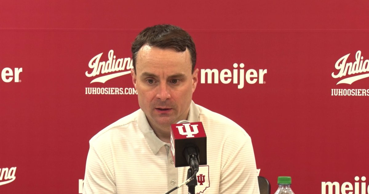 """""""The big key for this team right now is to embrace this moment.""""  IU head coach Archie Miller and senior guard Al Durham preview Iowa and talk adjustments being made moving forward. #iubb   WATCH:"""