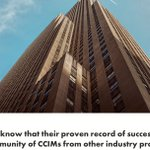 Image for the Tweet beginning: CCIMs have a proven record