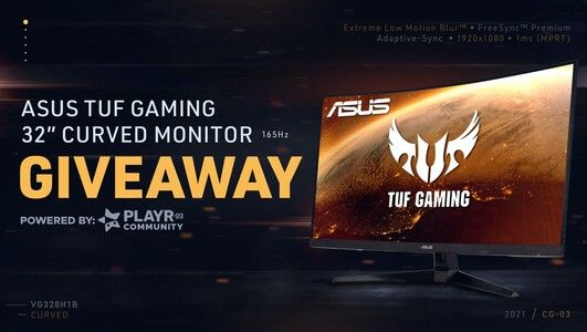 """💥 GAMING MONITOR COMMUNITY GIVEAWAY 💥  Looking to update your monitor to have a maximum gaming experience? Enter into our BRAND NEW community giveaway! ☺  🎁 ASUS Gaming 32"""" Curved Monitor 💙 Like + RT 💞 Tag 3 Friends  🔗 Click to enter:"""