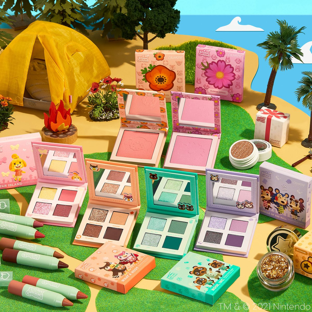 🏝️Animal Crossing #GIVEAWAY 🏝️  Get your tools ready,  we are giving away the ColourPop and AnimalCrossing PR BOX to 10 lucky winners!   To Enter:  🏝️Quote RT #ColourPopxAnimalCrossing with your Animal Crossing: New Horizons inspired look  🏝️Follow @ColourPopCo