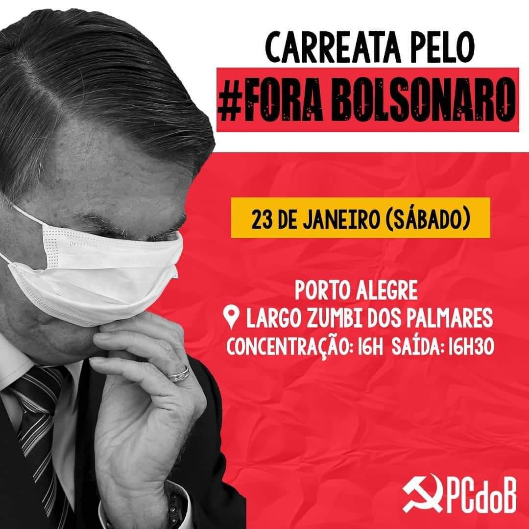 Neste sábado, em Porto Alegre! Divulgue o local e o horário da sua cidade  #ForaBolsonaro