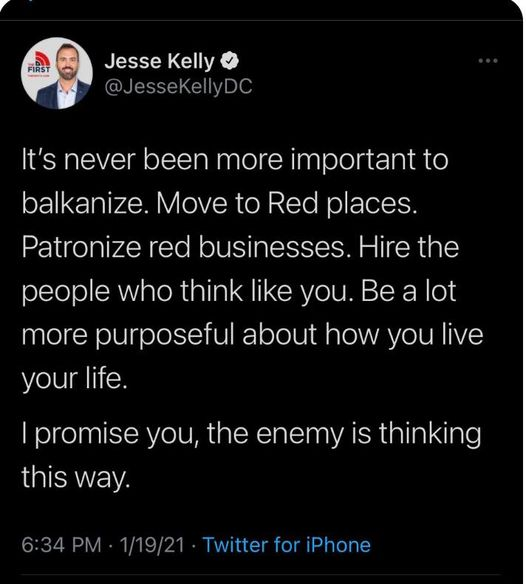 It's never been more important to build bridges. See what it's like beyond where you live. Build ties of commerce with people who see things differently. Hire people who challenge you. Read a book you disagree with.  I promise you, the real enemy is not thinking this way.