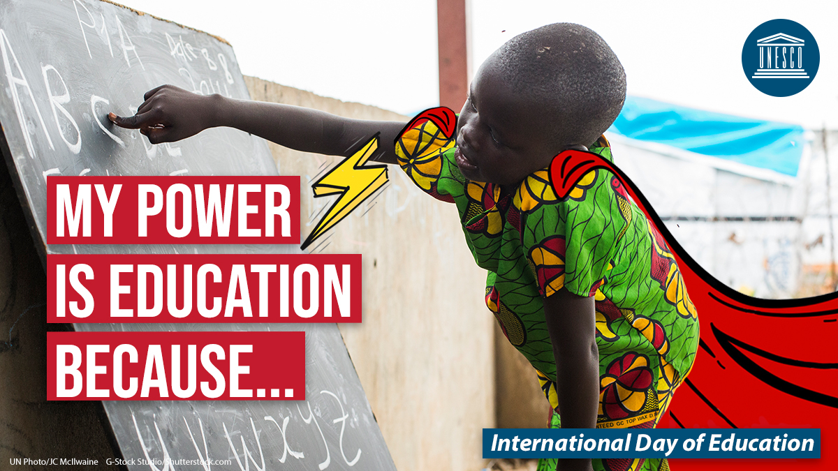 Ahead of #EducationDay, fill in the _______ and tell us why education means power to you!  ⚡#PowerEducation