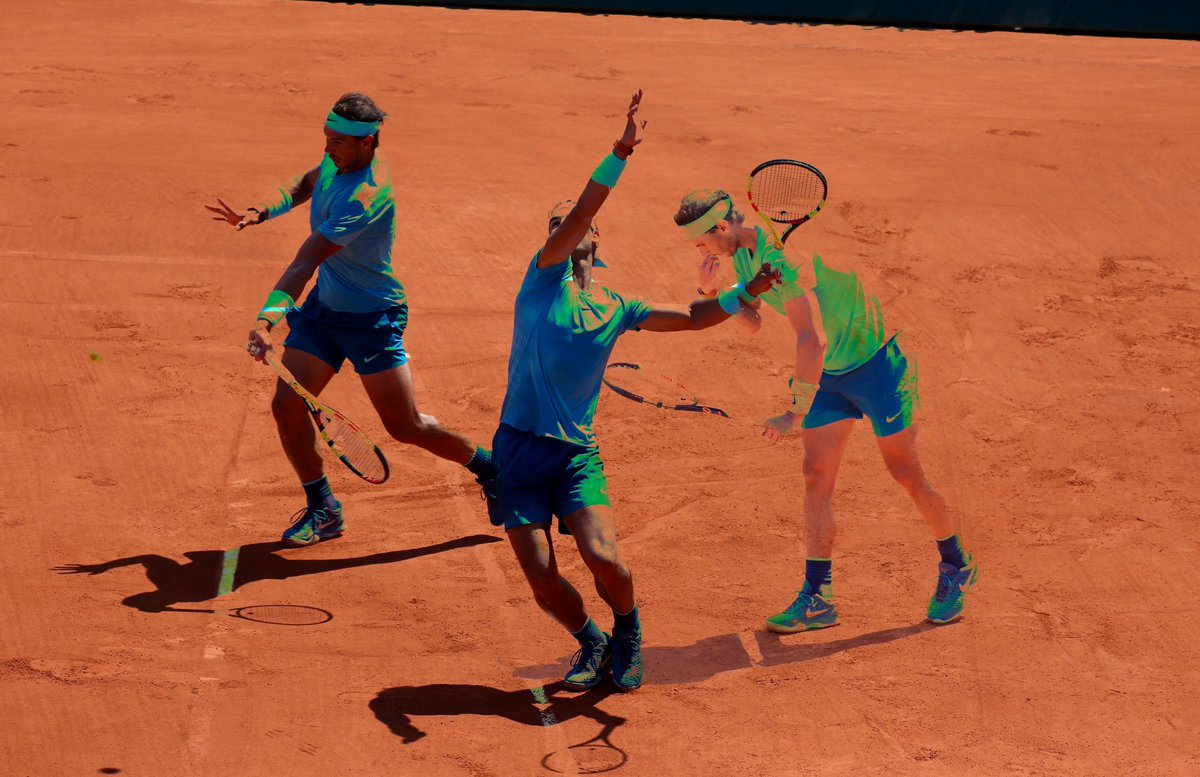 DIRTBALLER: Free Page 🎾 Clay court #tennis is different than hard. The way the ball interacts with the court is different. It grabs the clay & explodes off the ct. The way your feet interact is different. You slide more. But is rally length different?  👉