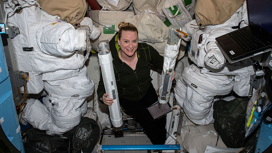 Spacewalk training and science maintenance kept the Exp 64 crew busy today aboard the station. More...