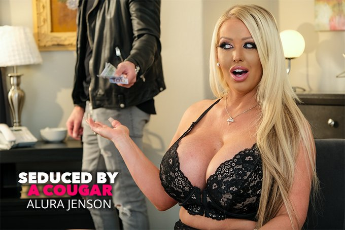 Cruising the towns, he found a cougar ready to pounce.  @AluraJenson devours @QuintonJamesxxx in NEW