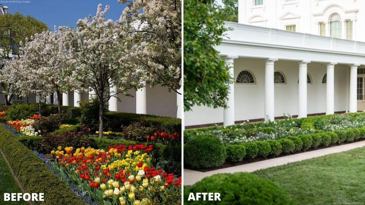 @MSNBC's Michael Beschloss hoping that the Bidens restore Jackie Kennedy's beautiful Rose Garden, which was destroyed by Melania Trump's awkward tastelessness.  It may not be vital, but it is important.  And so say all of us!!  #InaugurationDay #Unity #RoseGardenMassacre
