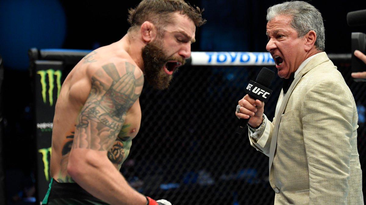 The hype game is strong with @BruceBuffer 🙌  [ #UFCFightIsland8 | #InAbuDhabi | @VisitAbuDhabi ]