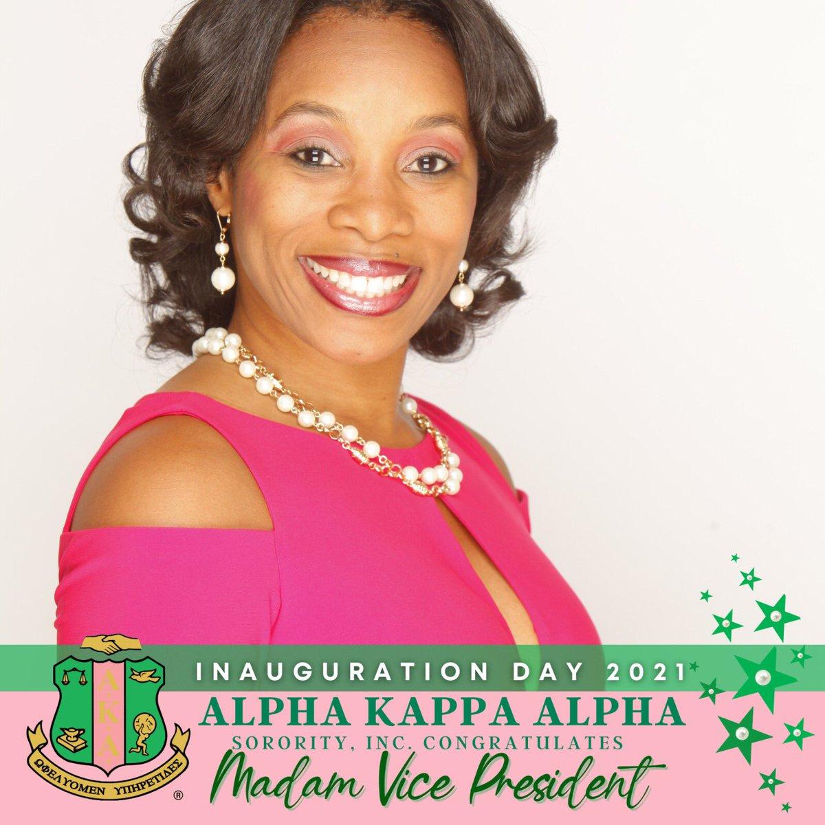 So excited to celebrate my Soror and Vice President of the United States of America, Kamala Harris! 💖💚🇺🇸🙏🏾#AKA1908 #AKAHistoryMaker #AKAMVP #FirstandFinest #ProudtobeanAKA