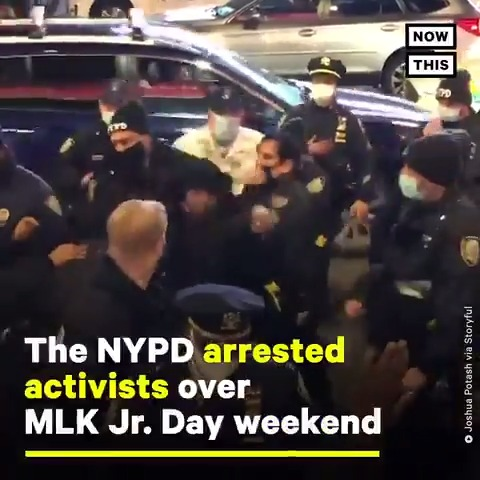 Just days after NY AG Letitia James sued the NYPD for violent tactics used against peaceful protesters, officers were allegedly seen punching and kicking non-violent activists in NYC