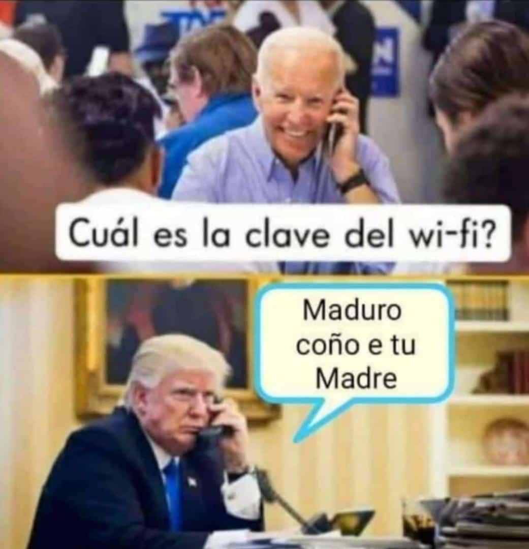 ¿cuál es la #clave del #wifi? #bidenpedofilo #trumppendejo https://t.co/ZWUGblVU1Q