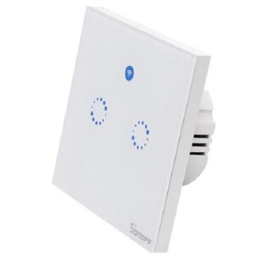 [48] #Venlo Sonoff #Inbouw #WiFi Wandschakelaar #Smart #Home | 2 Kanalen | 2 x 400W | Smart #Switch met Touch of Telefoon App. https://t.co/m7l0YMDA6r https://t.co/YsYEcKHFsG