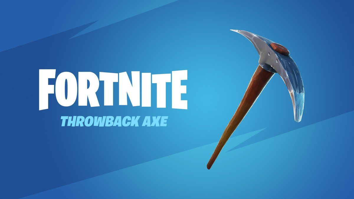 There's still time to grab the Throwback Axe for free in the Item Shop ⛏️  It'll be around until Jan 31 at 12 PM ET!