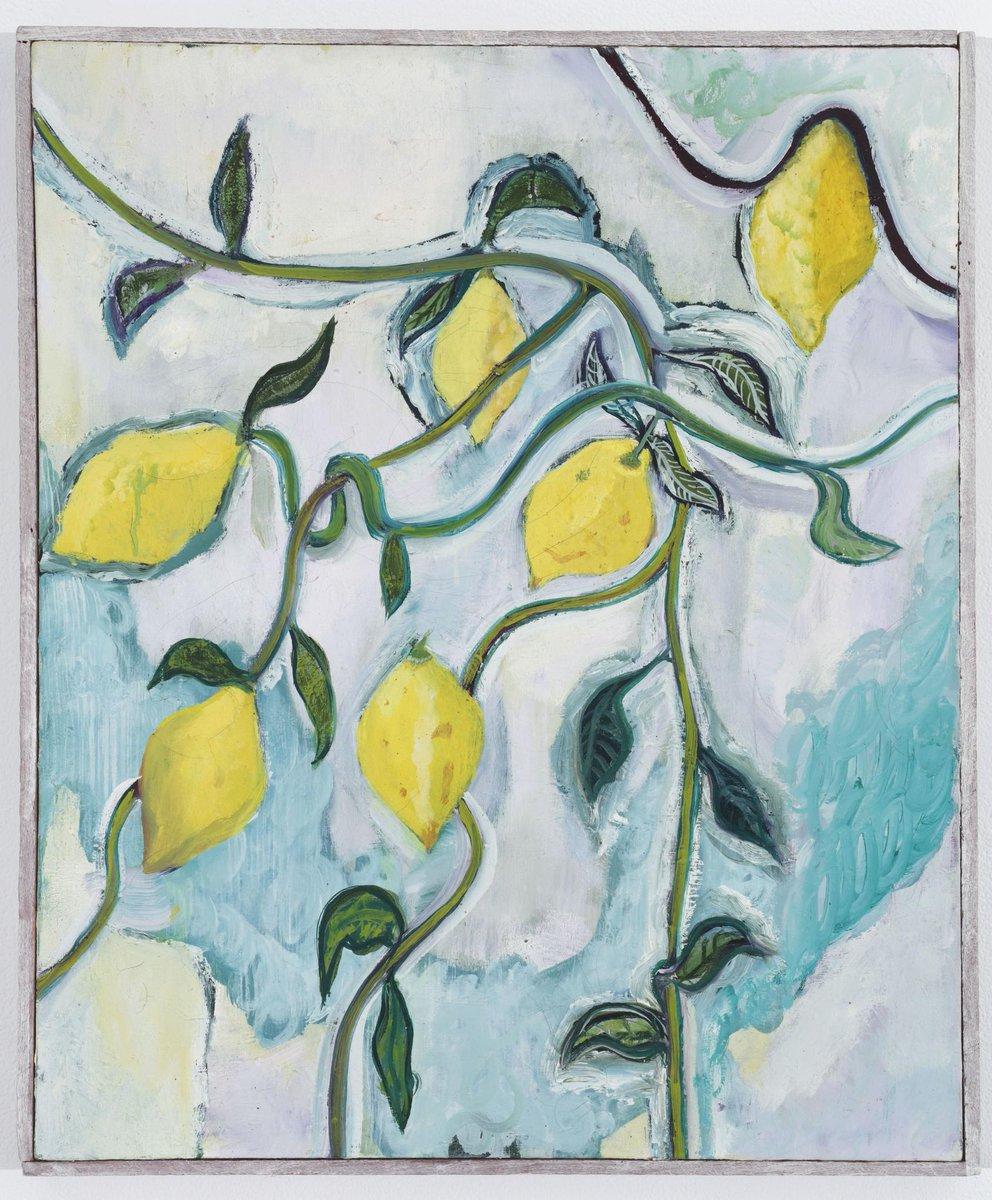 Peter Doig Lemons, 1989  #PeterDoig #Lemons #TheCityArtDaily
