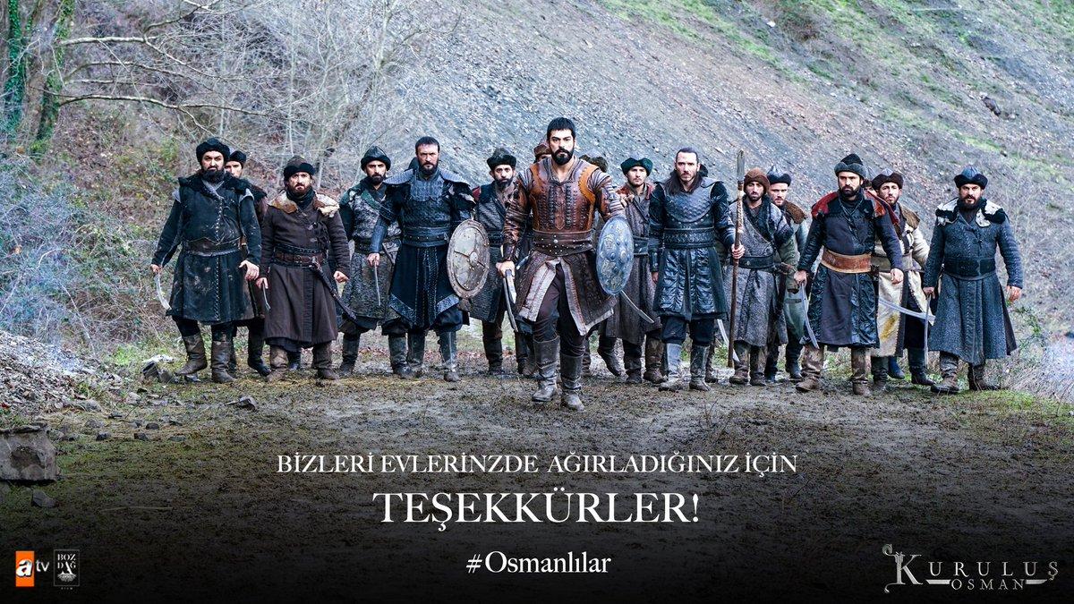 Bizleri evlerinizde ağırladığınız için teşekkürler #KuruluşAilesi   #KuruluşOsman #Osmanlılar  @bozdagfilm @atvcomtr