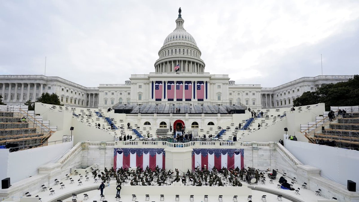 """""""At this hour, my friends, democracy has prevailed."""" - President Joseph Biden @POTUS @WhiteHouse #PresidentBiden #BidenHarrisInauguration #POTUS46 #RidinWithBiden"""